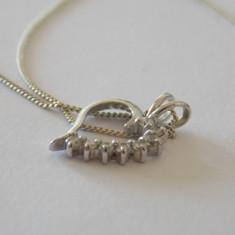 Lantisor si pandant argint cu zirconiu -1693 - Lantisor argint