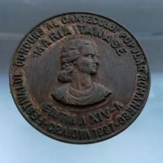 Placheta Maria Tanase Festivalul Concurs al Cantecului Popular Romanesc 1997 - Medalii Romania