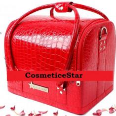 Geanta depozitare Fraulein38 Beauty Case Nuanta Red (Rosu) - Geanta cosmetice