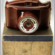 APARAT DE FOTOGRAFIAT CEHOSLOVAC - DUFA FIT II - DIN BACHELITĂ, VECHI ANII 1940! - Aparat de Colectie