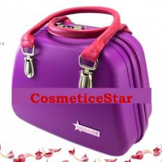 Geanta Fraulein38 Beauty Case depozitare Nuanta Purple & Fuchsia - Geanta cosmetice