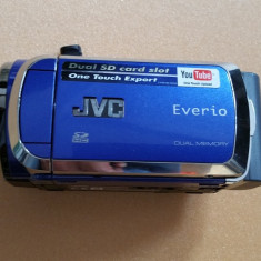 Camera Video JVC Everio 2 Slot CARD SDHC + Card 8 GB+Telecomanda+Husa 288 Grame, Intre 2 si 3 inch, Card Memorie, CCD, 30-40x