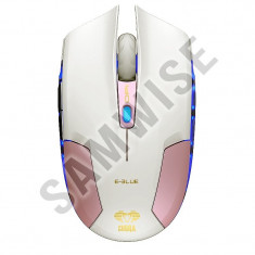 **NOU**Mouse E-Blue Cobra Type-S Pink, Wired, Senzor Avago, 1600/800/400DPI, USB, Optica, Peste 2000