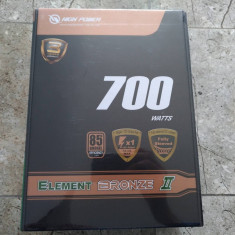 Sursă PC Sirtec High Power Element Bronze II 700W noua, sigilata!