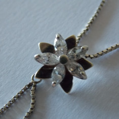 Lantisor si pandant argint cu zirconiu -1660 - Lantisor argint