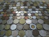 Lot mare de 161 monede diferite vechi romanesti si straine monezi bani diverse