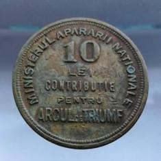 Jeton Contributie Arcul de Triumf 10 lei numismatica jetoane bani vechi - Jetoane numismatica