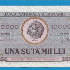 100000 lei 1947 10 XF - Bancnota romaneasca