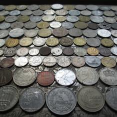 Lot mare de 151 monede diferite vechi romanesti si straine monezi bani diverse - Moneda Romania