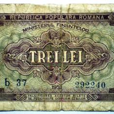222 ROMANIA RPR 3 LEI 1952 SR. 240