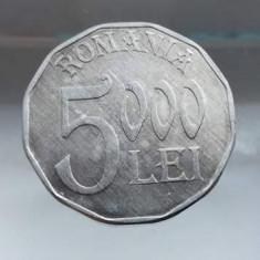 5000 lei 2004 moneda rara tiraj mic Romania numismatica bani vechi monezi - Moneda Romania
