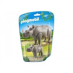 Rinocer cu Pui - Figurina Povesti Playmobil