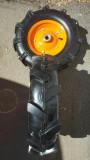 Roata cauciuc de motocultor 400/8 cu rulment de 20 mm