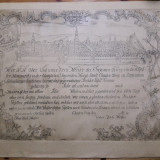 rar gravura 1759 Janos Szakal maestru mason diploma masonica Claudiopolis Cluj