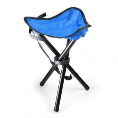 Scaun portabil pentru tabără, pescuit, 500g, albastru-negru - Mobilier camping