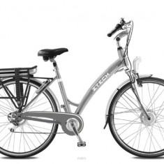 Bicicleta electrica cu cadru Aluminiu ZT-76 HOLIDAY, 20 inch, 26 inch, Numar viteze: 7, Negru
