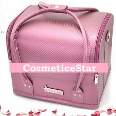 Geanta depozitare Fraulein38 Beauty Case Nuanta Light Pink - Geanta cosmetice