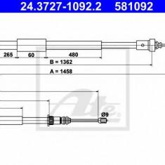 Cablu, frana de parcare RENAULT EURO CLIO III 2.0 16V Sport - ATE 24.3727-1092.2