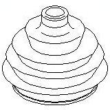 Burduf cauciuc, articulatie planetara VW POLO CLASSIC 1.0 - TOPRAN 104 265