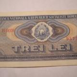 3 lei 1966 XF - Bancnota romaneasca