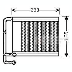 Schimbator caldura, incalzire habitaclu - VAN WEZEL 82006313 - Sistem Incalzire Auto