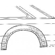 Panou lateral FORD ESCORT Mk V 1.3 - VAN WEZEL 1854147