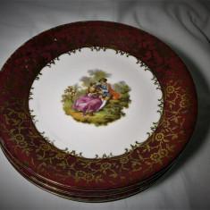 Set sase farfurii Fragonard, aur 24k, autentice, colectie, cadou