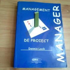 MANAGEMENT DE PROIECT-DENNIS LOCK - Carte Management