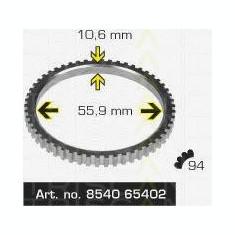 Inel senzor, ABS SAAB 9000 hatchback 2.0 -16 - TRISCAN 8540 65402 - Control dinamica rulare