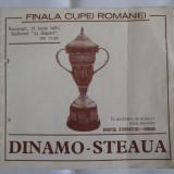 Program meci finala cupei Romaniei Dinamo-Steaua din 28 iunie 1987
