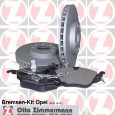 Set frana, frana disc OPEL ASTRA H combi 1.6 LPG - ZIMMERMANN 640.4217.00 - Kit frane auto