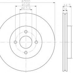 Disc frana FORD FOCUS ST170 - TEXTAR 92139903 - Discuri frana