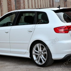 Prelungire spoiler difuzor bara spate Audi A3 8P Sportback S3 S line ver2 - Difuzor bara spate auto