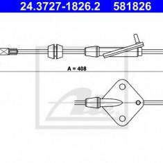 Cablu, frana de parcare MAZDA 2 limuzina 1.5 i - ATE 24.3727-1826.2