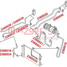 Conducta presiune variabila, aer conditionat VW SHARAN 2.0 TDI - METZGER 2360041 - Furtunuri aer conditionat auto