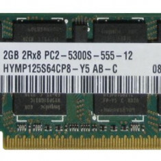Memorie Laptop Ddr2 hynix 2gb 2rx8 Pc2-5400s-555-12 12luni garantie - Memorie RAM laptop, DDR3, 4 GB, 1066 mhz, Dual channel