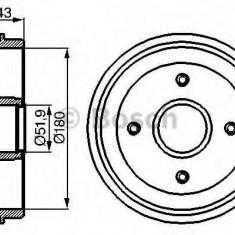 Tambur frana PEUGEOT 205 Mk II 1.4 - BOSCH 0 986 477 020 - Saboti frana auto