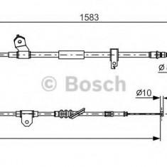 Cablu, frana de parcare TOYOTA MR III 1.8 16V VT-i - BOSCH 1 987 482 296