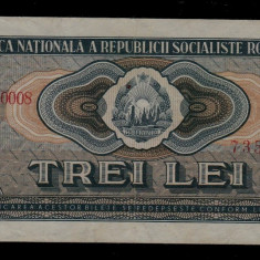 Bancnota 3 lei 1966 RARA bancnote romanesti numismatica bani vechi - Bancnota romaneasca