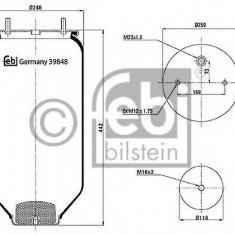 Burduf, suspensie pneumatica - FEBI BILSTEIN 39848