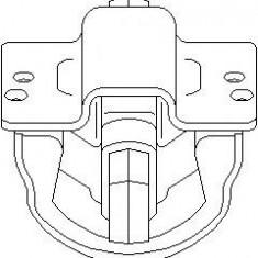 Suport, transmisie manuala MERCEDES-BENZ C-CLASS limuzina C 200 D - TOPRAN 400 039 - Tampon cutie viteze