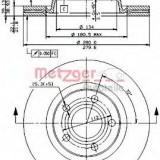 Disc frana AUDI A8 limuzina 4.2 quattro - METZGER 24700 E