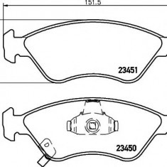 Placute frana KIA CREDOS 1.8 i 16V - MINTEX MDB1898 - Ventilatoare auto