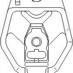 Suport, transmisie manuala AUDI A6 limuzina 1.9 TDI - TOPRAN 107 992 - Tampon cutie viteze