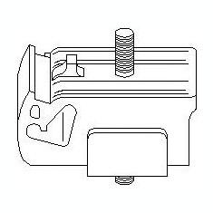 Suport, transmisie manuala FORD ESCORT '86 Courrier 1.8 D - TOPRAN 300 167 - Tampon cutie viteze