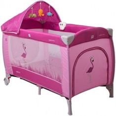 Pat Pliant Samba Lux Roz - Patut pliant bebelusi Coto Baby, 125X65cm