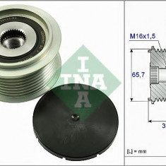 Sistem roata libera, generator MAN TGA 18.430, 18.440 FC, FLC, FLLC, FLLRC, FLLRW, FLLW, FLRC - INA 535 0274 10 - Fulie
