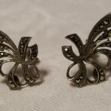 Cercei argint cu marcasite SUPERBI finuti delicati de Efect stralucitor Vintage