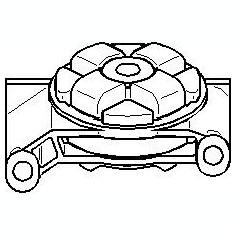 Suport, transmisie manuala AUDI 4000 1.6 D - TOPRAN 104 301 - Tampon cutie viteze