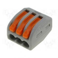 Conector Doza Wago 3x4 litat - Accesoriu instalatie electrica